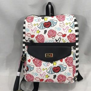 Luv Betsey Roses Backpack w/ Dettachable Crossbody